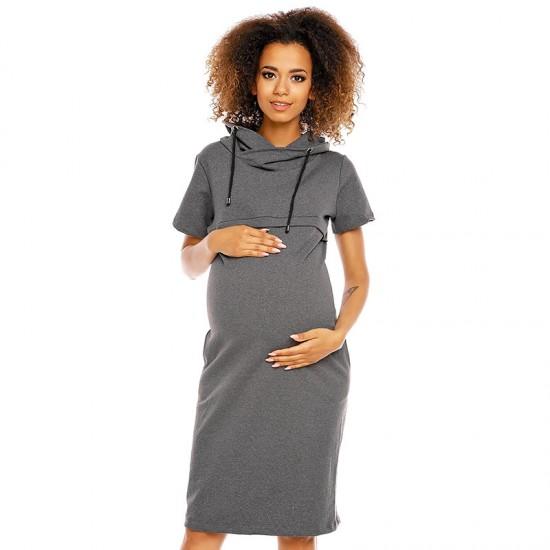 Robe sweatshirt de grossesse à capuche Calypso 17