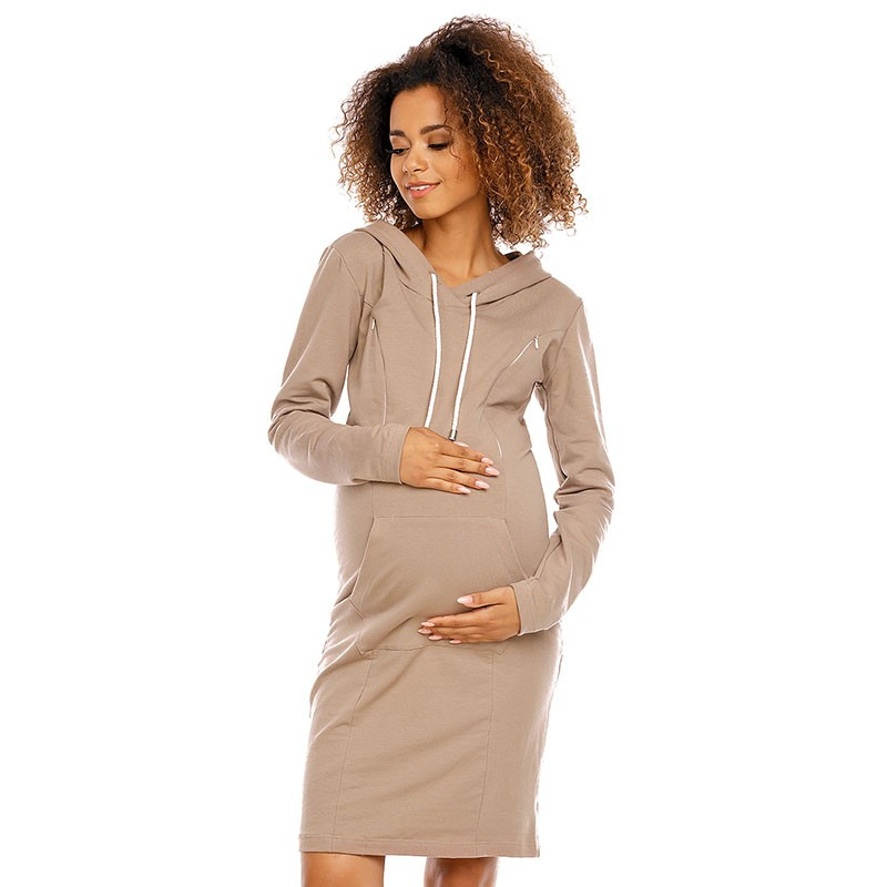 Robe de grossesse sweatshirt à capuche Nidaba 16