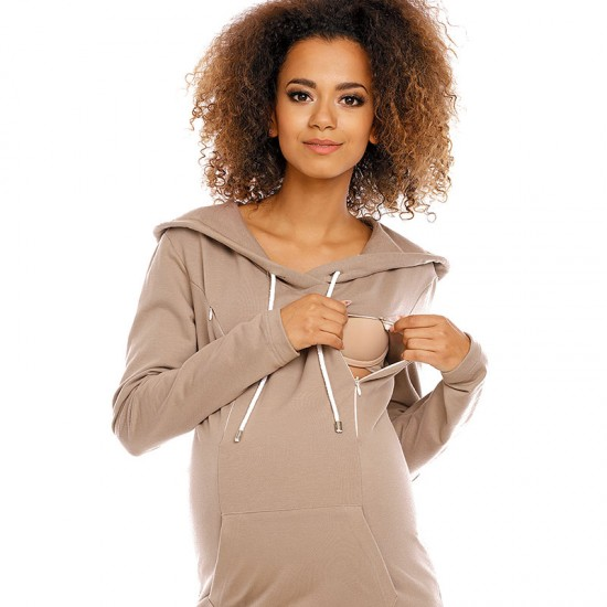 Robe de grossesse sweatshirt à capuche Nidaba 20
