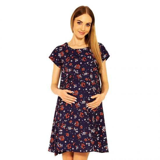 Robe trapèze de grossesse fleurie Maïa